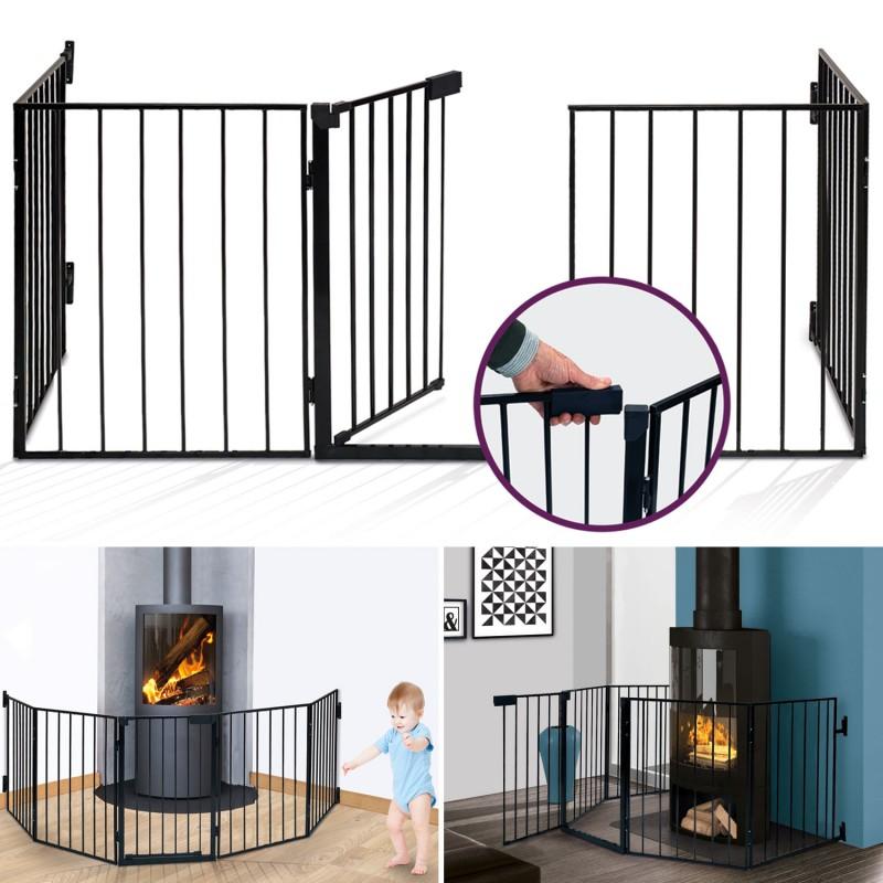 barri re de s curit enfant pare feu de chemin e 5 pans s lection. Black Bedroom Furniture Sets. Home Design Ideas
