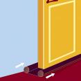 Boudin bas de porte double velours marron stop-froid isolant