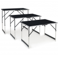 Tables à tapisser X3 pliantes multi-usages en aluminium