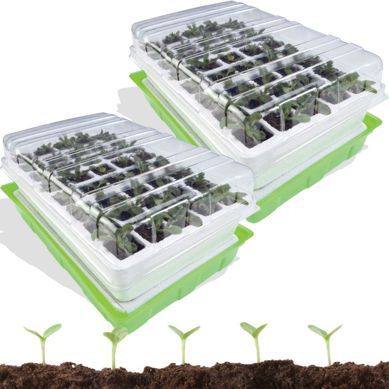 kit de germination 40 godets lot x2 serres de jardin et de culture. Black Bedroom Furniture Sets. Home Design Ideas
