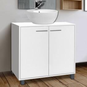 Meuble sous lavabo blanc pour vasque de salle de bain