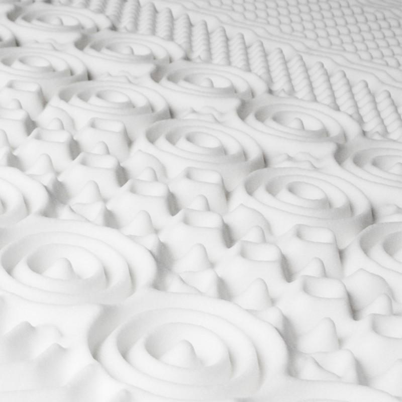 surmatelas mousse m moire de forme 10 zones 160x200 cm confort et. Black Bedroom Furniture Sets. Home Design Ideas