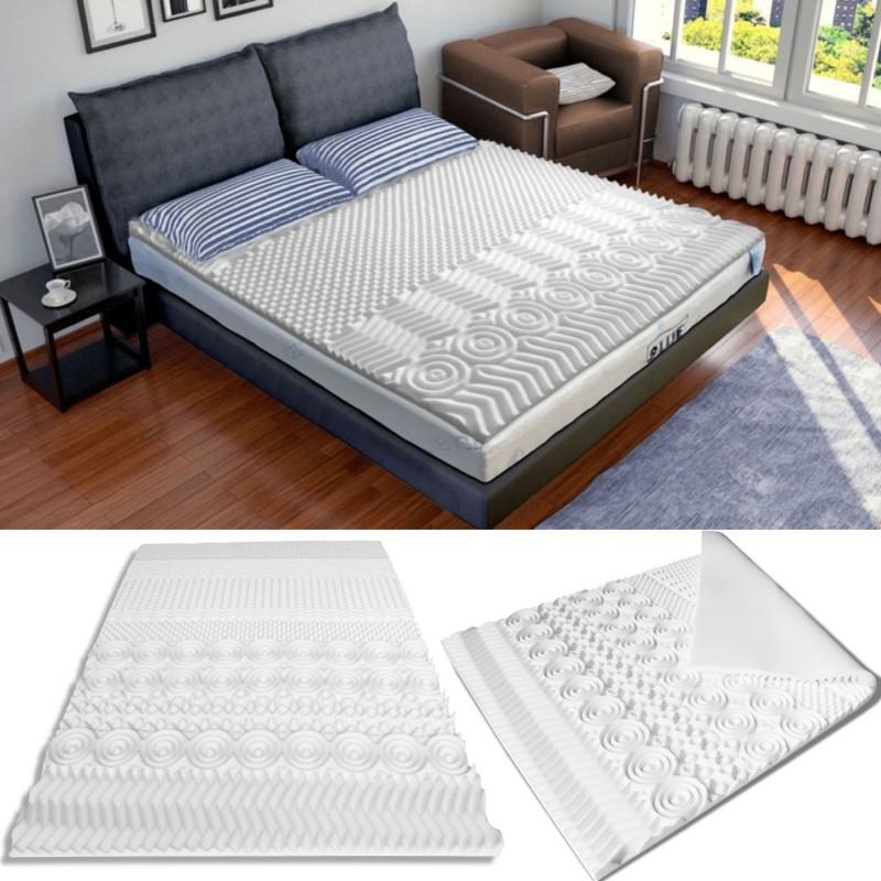 surmatelas mousse m moire de forme 10 zones 180x200 cm confort et. Black Bedroom Furniture Sets. Home Design Ideas