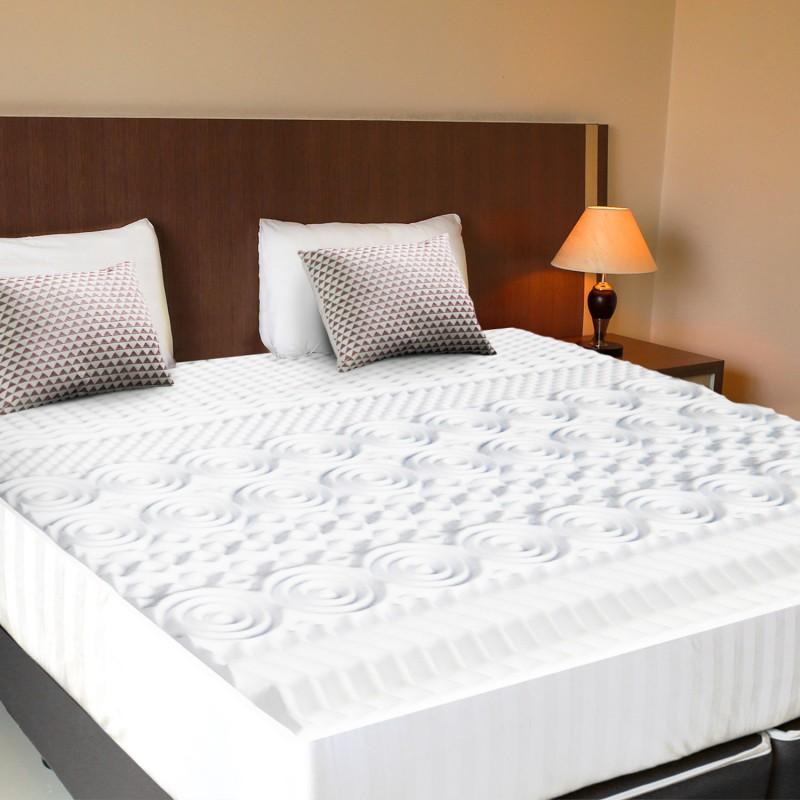 surmatelas mousse m moire de forme 10 zones 90x190 cm confort et l. Black Bedroom Furniture Sets. Home Design Ideas