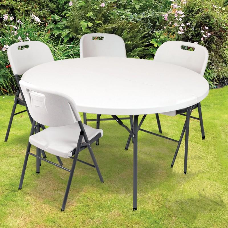 table pliante resine gallery of gecko jardin salon oglio bton table pliante alu chaises rsine. Black Bedroom Furniture Sets. Home Design Ideas