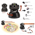 Caméra de surveillance sans fil wifi motorisée avec détecteur de présence