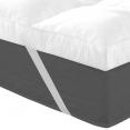 Surmatelas 140x190cm ultra-confort 10 cm plumes d'oie 2000g/m²