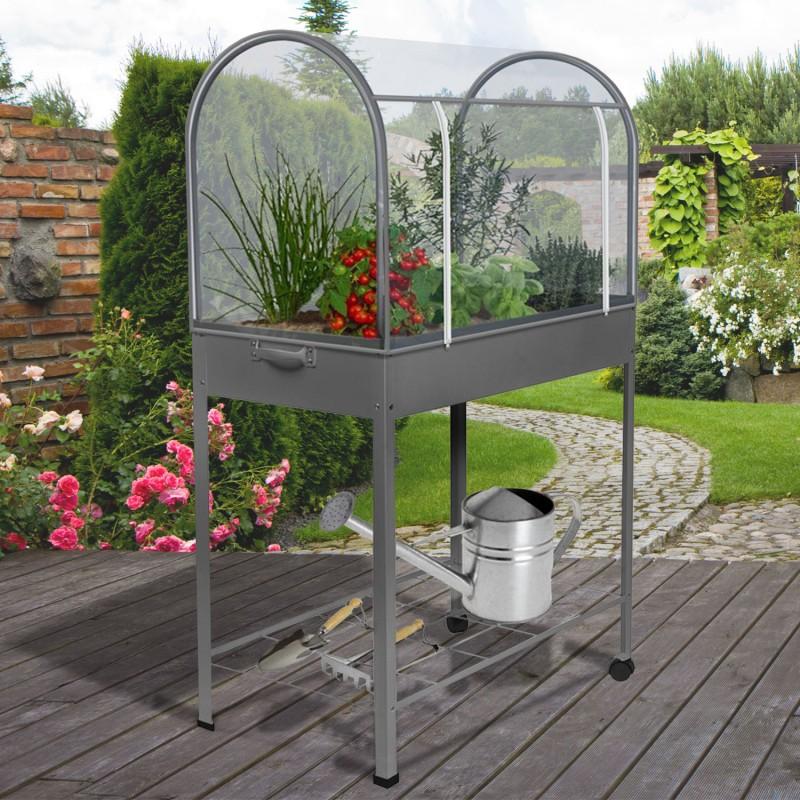serre de balcon grise avec housse de protection serres de jardin e. Black Bedroom Furniture Sets. Home Design Ideas