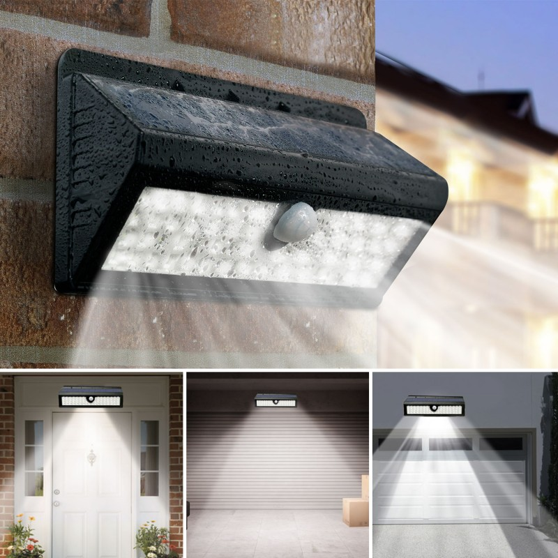 applique 62 led solaire murale avec sensor eclairage et d coration. Black Bedroom Furniture Sets. Home Design Ideas