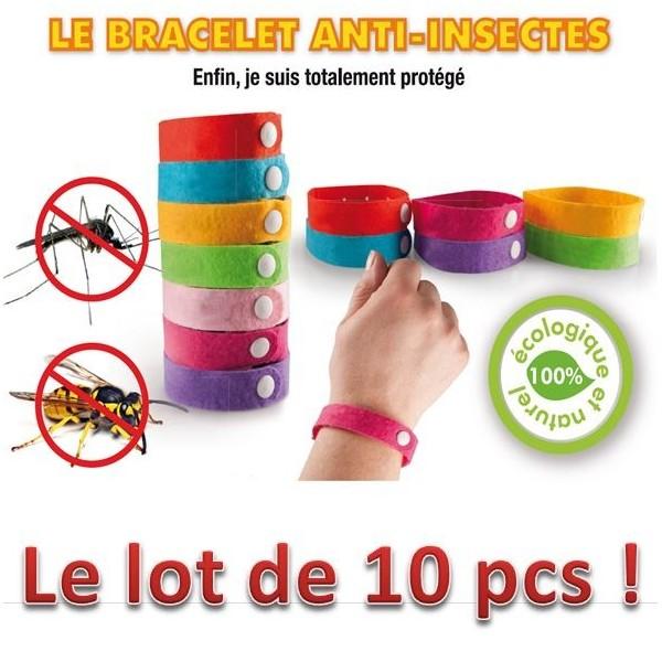 lot de 10 bracelets anti moustiques 100 naturel base de citronelle les pros de la b che. Black Bedroom Furniture Sets. Home Design Ideas