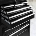 Servante d'atelier noire 8 tiroirs avec caisse à outils amovible