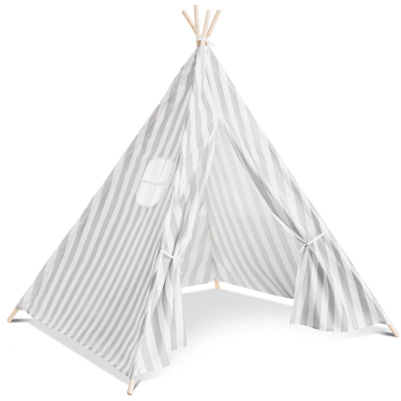 tipi d 39 indien ray gris tente de jeux pour enfant piscine. Black Bedroom Furniture Sets. Home Design Ideas