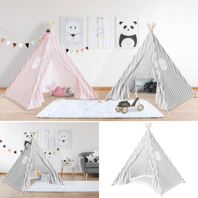 tipi d 39 indien ray gris tente de jeux pour enfant piscine et jeux. Black Bedroom Furniture Sets. Home Design Ideas