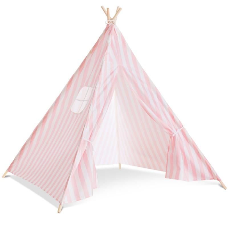 Tipi d\'indien rayé rose tente de jeux pour enfant Piscine et jeux
