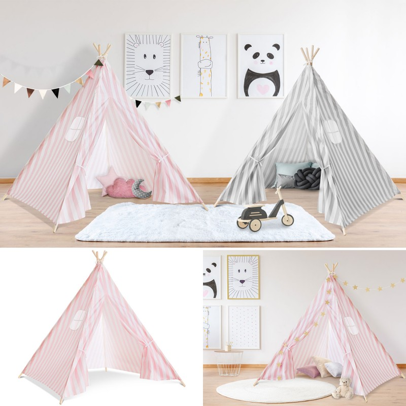 tipi d 39 indien ray rose tente de jeux pour enfant piscine. Black Bedroom Furniture Sets. Home Design Ideas