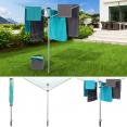 Séchoir à linge parapluie pliable d'extérieur 24 m