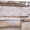 Brise vue trompe l'œil 1,5 x 5m mur de pierre occultant