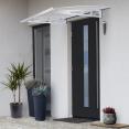 Auvent marquise de porte d'accueil 80 x 117 cm Luxe