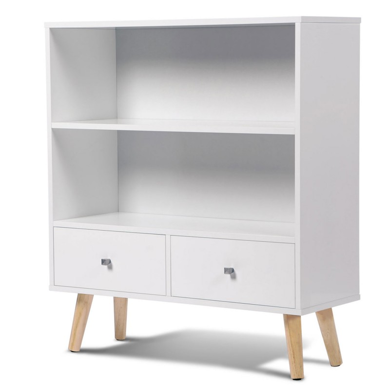 biblioth que effie scandinave bois blanc meubles et am nagement. Black Bedroom Furniture Sets. Home Design Ideas
