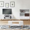 Bibliothèque EFFIE scandinave bois blanc