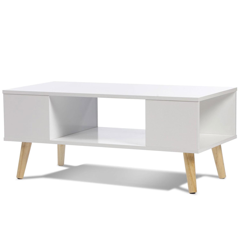 Meuble Tv Table Basse Assorti table basse effie scandinave bois blanc idmarket