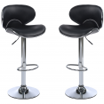 Lot de 2 Tabourets de bar Sam Noir