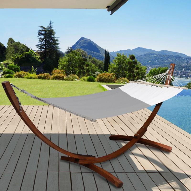 hamac sur pied en bois pas cher et toile crue id market. Black Bedroom Furniture Sets. Home Design Ideas