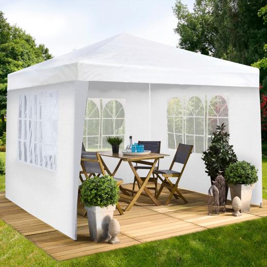 chapiteau 3x3 m 3 murs tente tonnelle de r ception blanche chapit. Black Bedroom Furniture Sets. Home Design Ideas