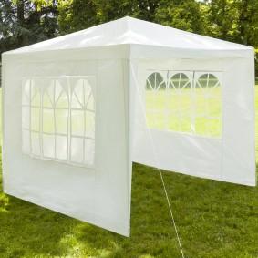Chapiteau 3x3 m+3 murs tente tonnelle de réception blanche