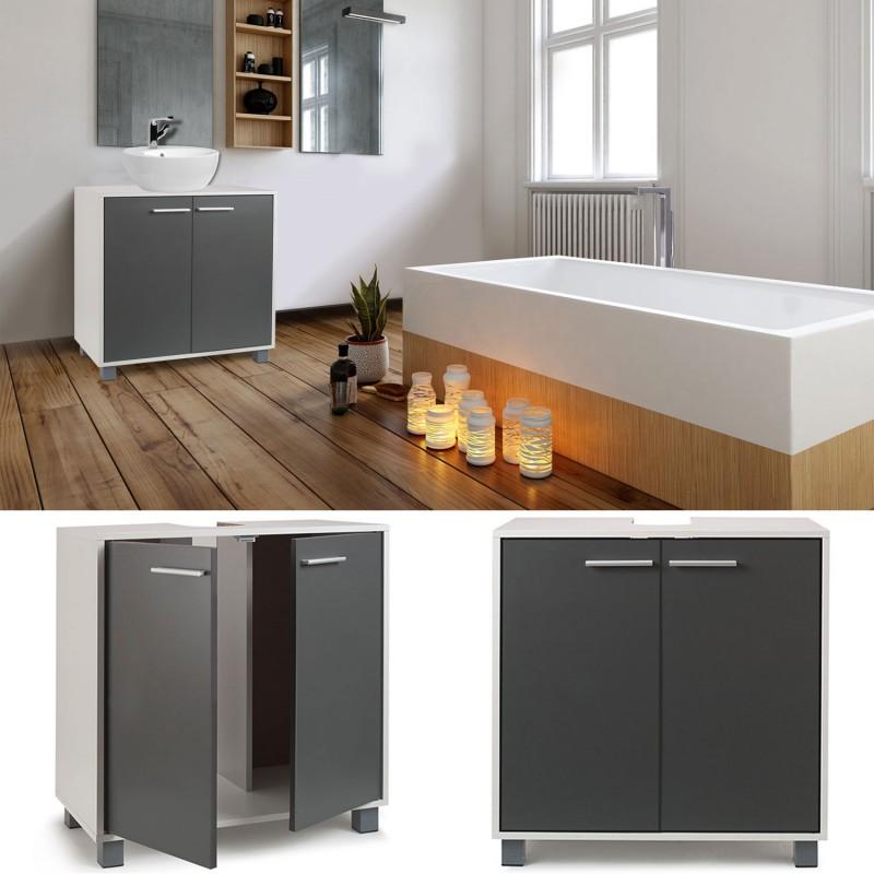 meuble sous lavabo gris pour vasque de salle de bain meubles et am. Black Bedroom Furniture Sets. Home Design Ideas