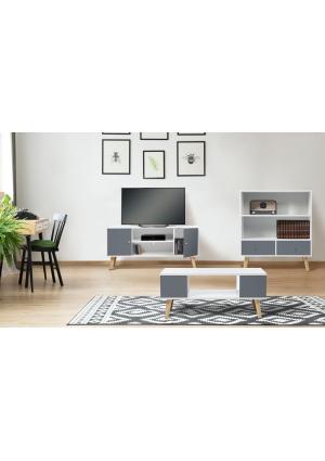 1 meuble TV + 1 table basse de la collection Effie à prix séduisant !