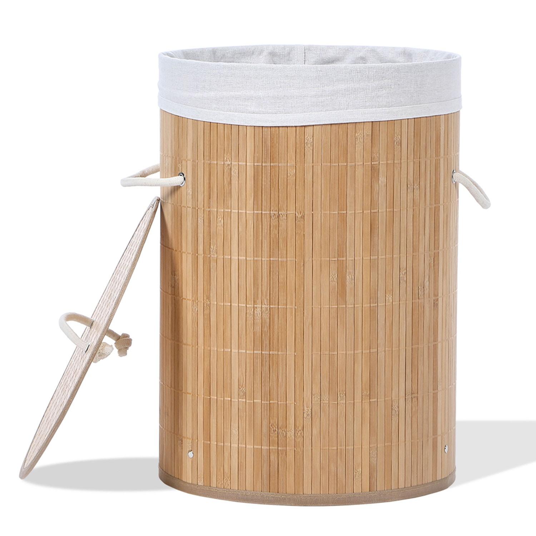Panier à linge en bambou Linge et entretien de la maison 538ecfa0a362