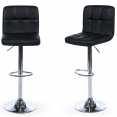 Lot de 2 tabourets de bar Axel noir