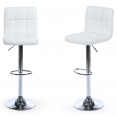 Lot de 2 tabourets de bar Axel blanc