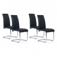 CHAISE X4 MILLA NOIR PIETEMENT CHROME SUSPENDU