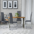 CHAISE X4 MILLA GRIS PIETEMENT CHROME SUSPENDU