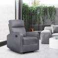 Fauteuil relax inclinable gris anthracite