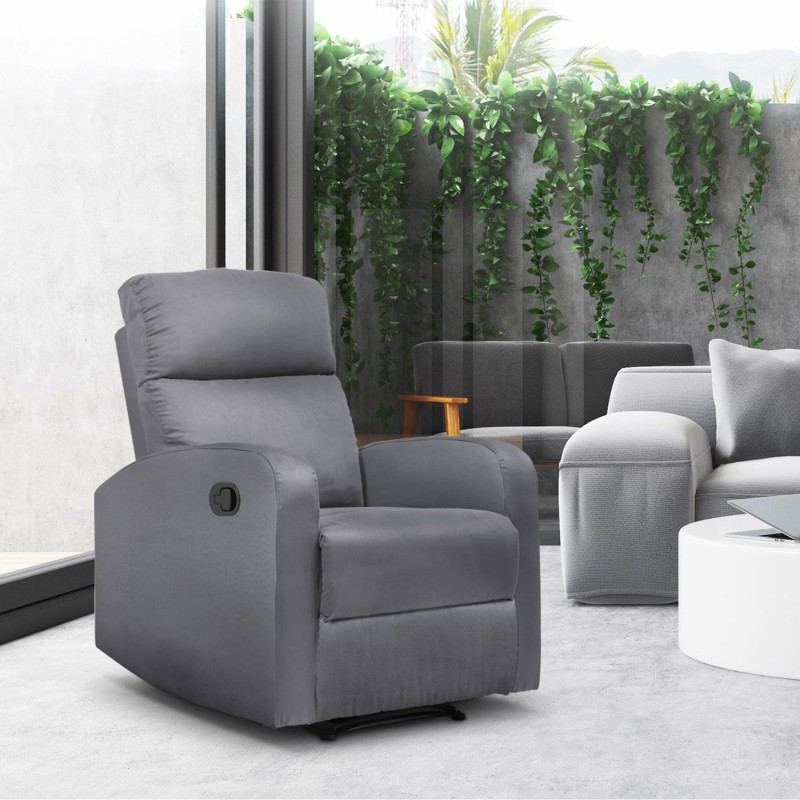 fauteuil relaxation inclinable gris anthracite meubles et am nagement. Black Bedroom Furniture Sets. Home Design Ideas