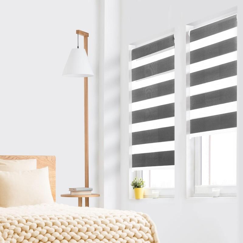 store enrouleur z br jour nuit 60 x 120 cm gris accessoires maiso. Black Bedroom Furniture Sets. Home Design Ideas