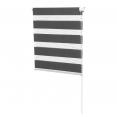 Store enrouleur zébré jour nuit 70 x 120 cm gris