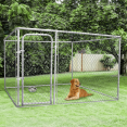 Chenil grillagé pour chiens 9 m²