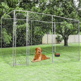 Chenil grillagé pour chiens 8 m²