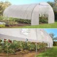 Grande serre de jardin tunnel toutes saisons 18 m² 180gr/m² blanche transparente