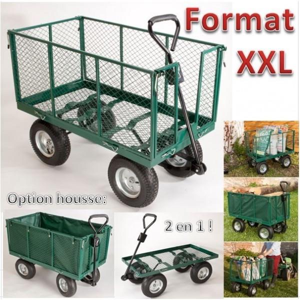 Nos accessoires de jardin les pros de la b che - Chariot de jardin xxl ...