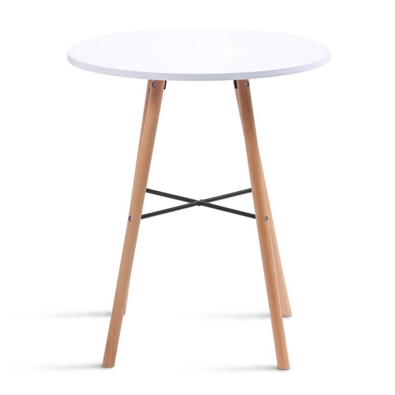 Table à manger ronde scandinave Sara blanche Meubles et ...