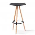 Table de bar ronde scandinave Sara noire