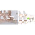 4 chaises et 1 table ronde SARA blanche pour une déco chic !