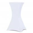 Housse blanche pour table haute pliante mange debout