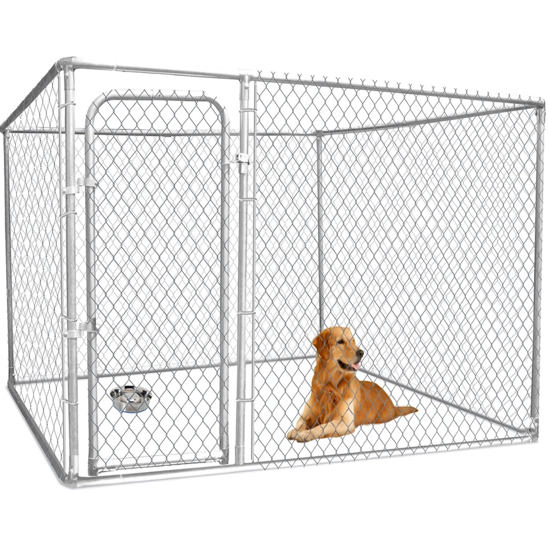 chenil pour chien en kit grillag 3x3 m pas cher id market. Black Bedroom Furniture Sets. Home Design Ideas