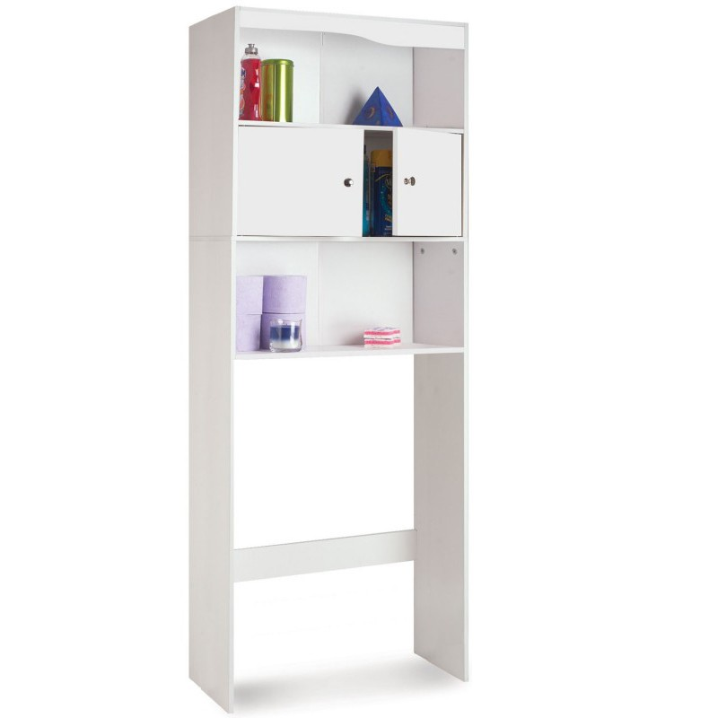 meuble tagre wc ou machine laver bois blanc h178 cm